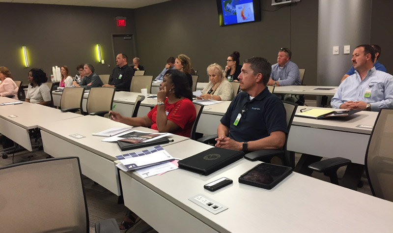 CenturyLink in Monroe hosted today's Louisiana Emergency Preparedness meeting. CenturyLink presented a cyber security program for the group.